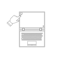 notebook work help outline vector image