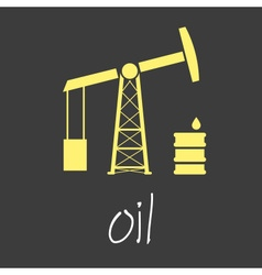 oil production theme symbols simple banner eps10 vector image