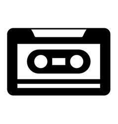 old retro audio tape record listen vector image