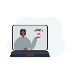 online education class flat vector image