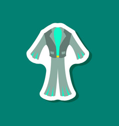 Paper sticker fashion clothes men suit vector