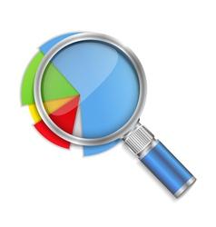 Pie Chart Analyzing vector