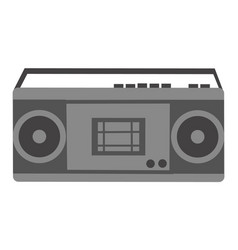 radio with cassette player electronic sign vector image