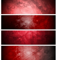 Red textural backgrounds set vector image