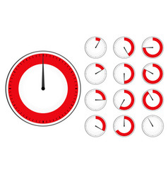 Red timers set vector