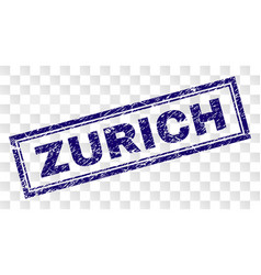 Scratched zurich rectangle stamp vector