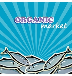Seafood organic food concept vector