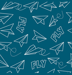 seamless background with airplanes vector image
