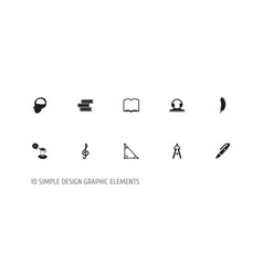 set of 10 editable education icons includes vector image