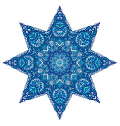 star blue and white pattern vector image