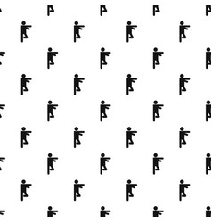 Stick figure stickman pattern seamless vector