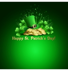 StPatricks Day background vector image