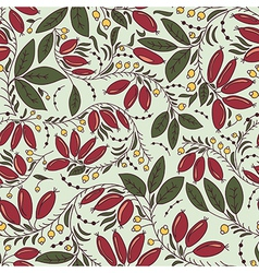 Texture in the Russian style with barberry vector
