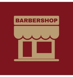 The barbershop building icon Barbershop symbol vector image