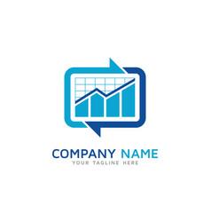 transfer report logo icon design vector image