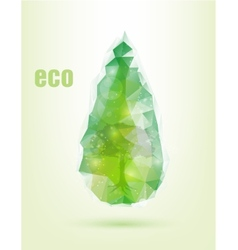 triangular drop green concept of ecology vector image