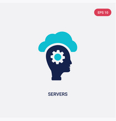 two color servers icon from artificial vector image