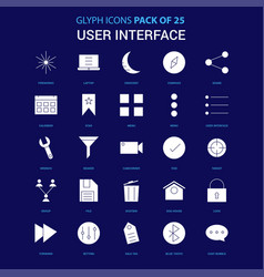 User interface white icon over blue background 25 vector