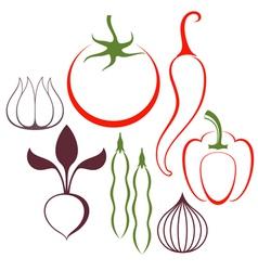 Vegetable set vector