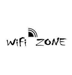 wifi zone connection vector image