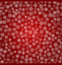 winter snowflakes background seamless pattern vector image