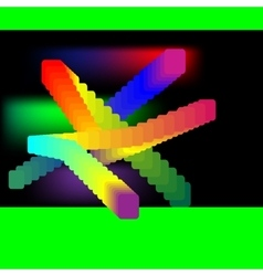 with colored rectangles vector image