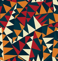 african triangle seamless pattern vector image vector image