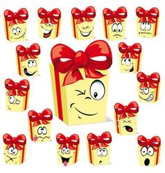 gift cartoon vector image vector image