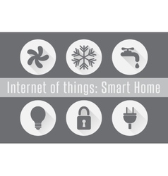 Internet of Things IoT - Smart Home Set of 6 vector image