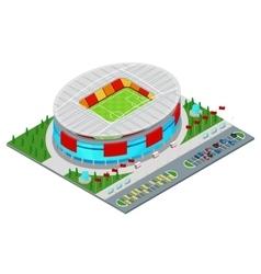 Isometric Football Soccer Stadium Building vector image