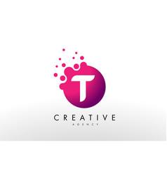 letter t logo t letter design vector image vector image