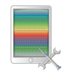 Mobile repair icon cartoon style vector image