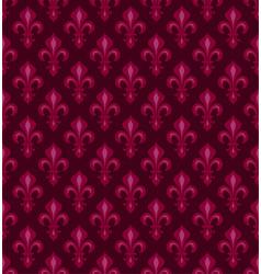 royal heraldic lilies seamless pattern vector image