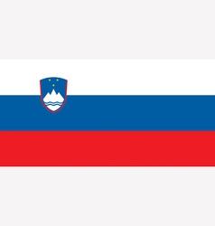 Slovenian flag vector image vector image