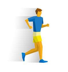 walking sportsman race walk competition vector image vector image