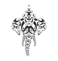abstract monochrome elephant ganesh vector image