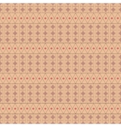 Circle and flower seamless pattern vector image vector image