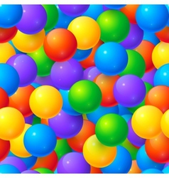 Colorful glossy balls seamless pattern vector image vector image