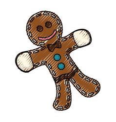 gingerbread man cookie vector image