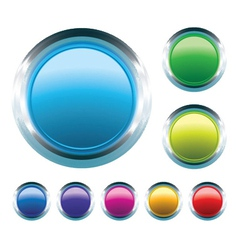 glossy buttons set vector image vector image