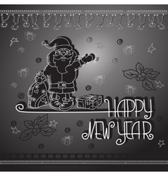 Hand drawn Santa gifts and handwritten words vector image vector image