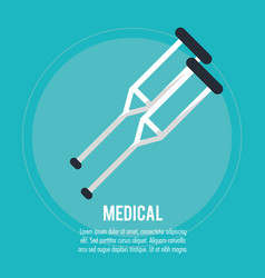 medical crutches health care vector image vector image