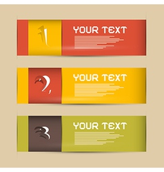 One Two Three Paper Progress Steps for Tutorial vector image vector image