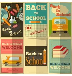 school posters set vector image vector image