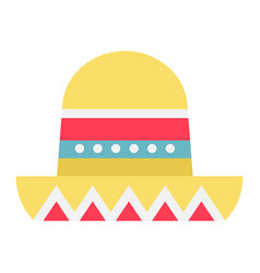 Sombrero mexican hat flat icon travel tourism vector