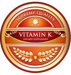vitamin k icon vector image
