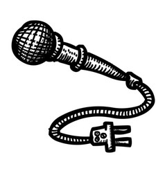 cartoon image of microphone icon vector image