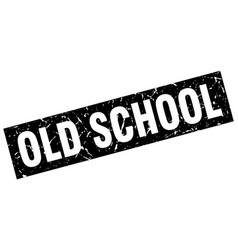 square grunge black old school stamp vector image