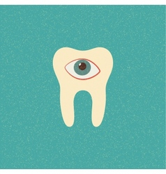 tooth retro poster vector image vector image