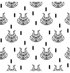 lynx abstract animal seamless pattern vector image vector image